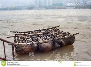 Sheepskin Raft On The Yellow River Of China Stock Image ...