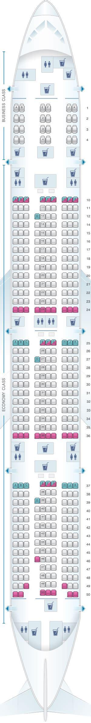 plan si es boeing 777 300er air plan de cabine qatar airways boeing b777 300er 412pax