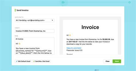 sending invoices cushion