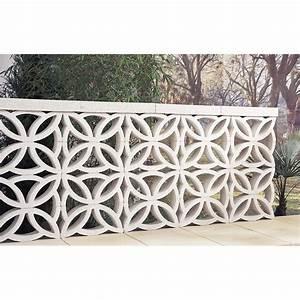 Claustra Interieur Pas Cher : claustra en b ton blanc x x p 9 cm leroy merlin ~ Teatrodelosmanantiales.com Idées de Décoration