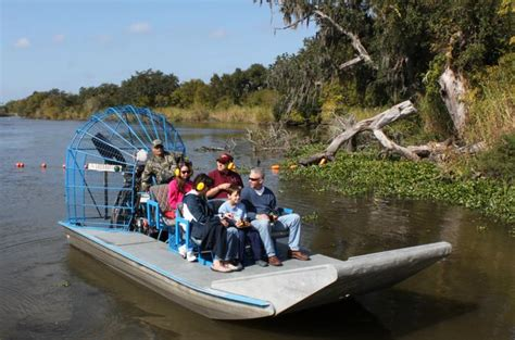 fan boat new orleans small group bayou airboat ride with transport from new
