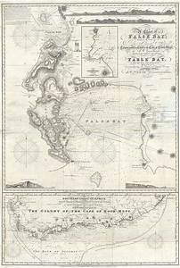 Cape Nautical Chart A Chart Of False Bay Surveyed By Order Of Rear Admiral