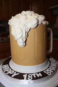 Beer, Mug, Cake