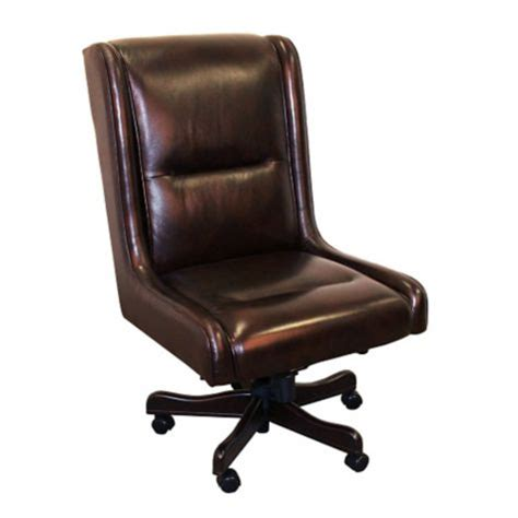 prestige armless desk chair in leather 8803788