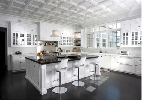 kitchen trend tin ceiling tiles  chic life