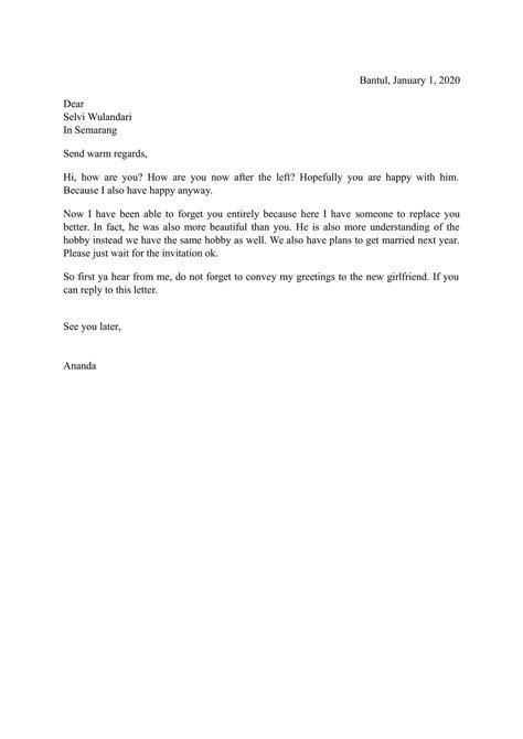 contoh surat bahasa inggris yang terbaru