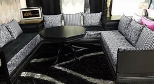 Rideau Noir Et Gris : rideau pour salon gris et noir idaes de galerie avec salon marocain noir photo torsade arabesque ~ Melissatoandfro.com Idées de Décoration