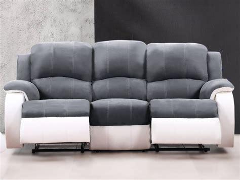 canapé relax microfibre canapé et fauteuil relax en microfibre 3 coloris bilston