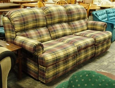 Plaid Recliner by Plaid Dual Reclining Sofa Diggerslist