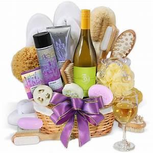 Premium Spa Wine Gift Basket by GourmetGiftBaskets.com