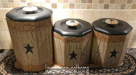 primitive kitchen canister sets the 25 best ideas about primitive canisters on pinterest primitive kitchen decor country