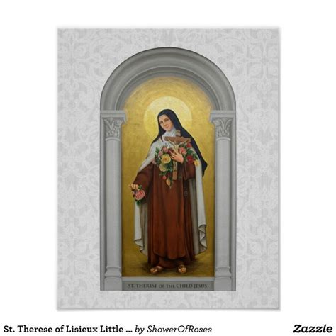 St Therese of Lisieux Little Flower ofPoster