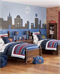Batman bedroom decor vintage cool bedrooms tumblr ideas for Kitchen cabinets lowes with blue stripe police bumper sticker