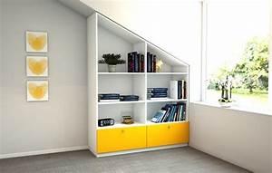 Regal Für Dachschräge : wandregale regal f r die dachschr ge ein designerst ck ~ Michelbontemps.com Haus und Dekorationen