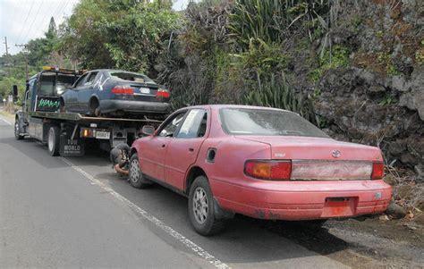 Abandoned Vehicle Bills Cruising Along  West Hawaii Today