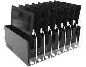 Standing Clothing Rack by Ipad Charging Dock Table Top Station With 8 Slots