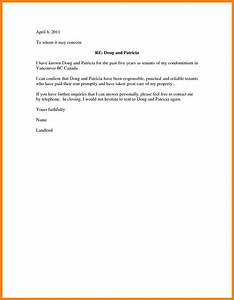 character reference letter for tenant cover letter example With character reference template for renting