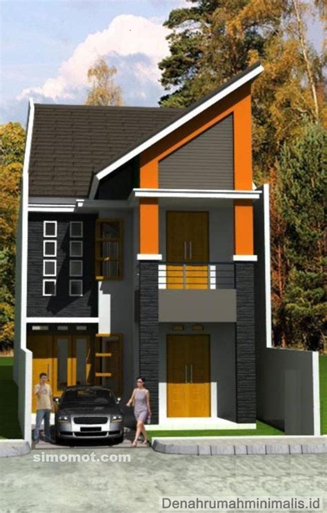 desain rumah mungil minimalis  lantai