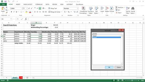 navigating worksheets in excel 2013 tutorial