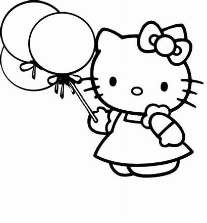 Kitty Hello Coloring Colouring Printable Sheet Sheets