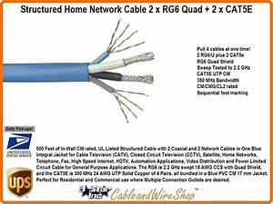 Structured Home Network Cable 2 X Rg6 Quad   2 X Cat5e