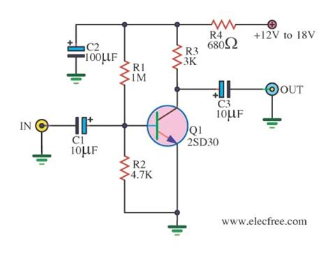 Simple Preamplifier Circuits Transistors Under