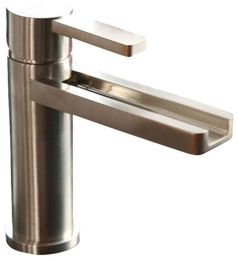 Modern Faucets For Bathroom by Waterfall Ultra Modern Bathroom Faucet Brushed Chrome