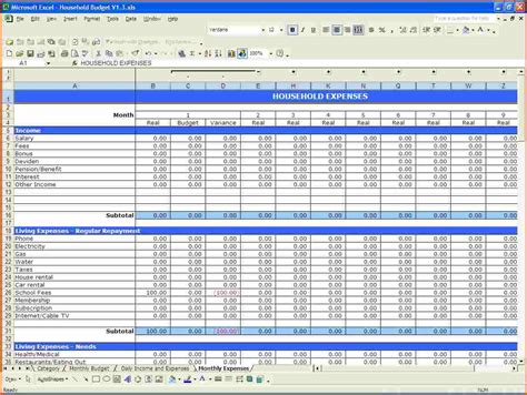 free finance spreadsheet free monthly budget spreadsheet template budget