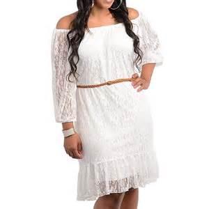 summer wedding dresses plus size details about 13 1x 2x 3x plus size belted 3 4 sleeve laced summer wedding dress white