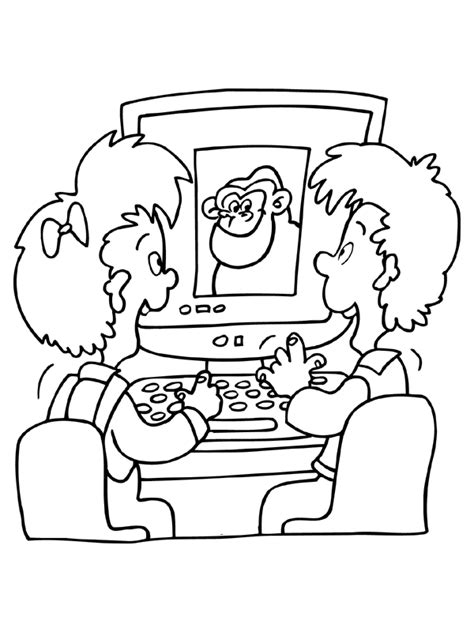 Coloring Page   Computer coloring pages 6