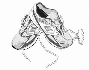 hanging running shoes clipart - Clipground