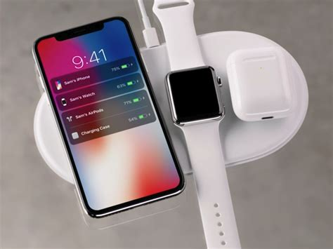 apple airpower wireless charger can power iphone x iphone 8 airpods and at the same time