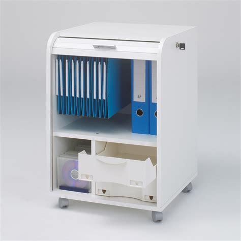caisson bureau blanc caisson de bureau à rideau et avec roulettes h70cm caisson