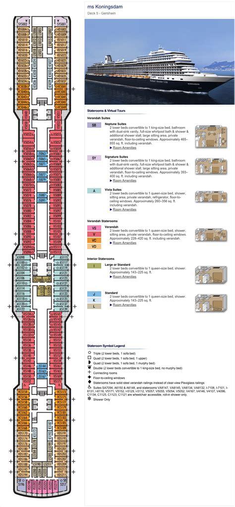 Westerdam Deck Plan 5 by Deck Plans