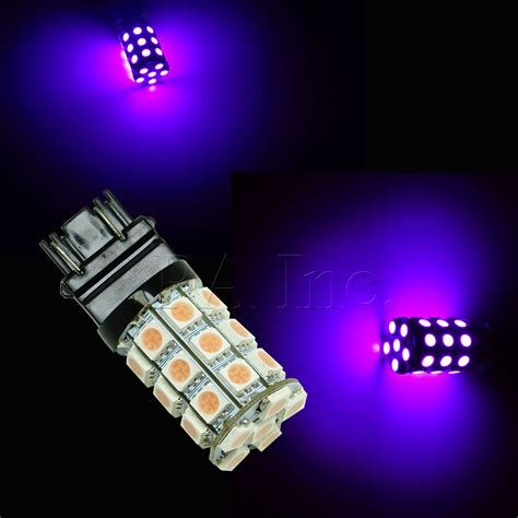 2pcs purple 3157 dual 30 5050 smd led brake signal