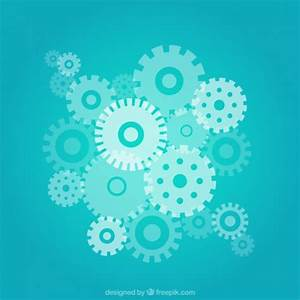 Blue gears background Vector   Free Download