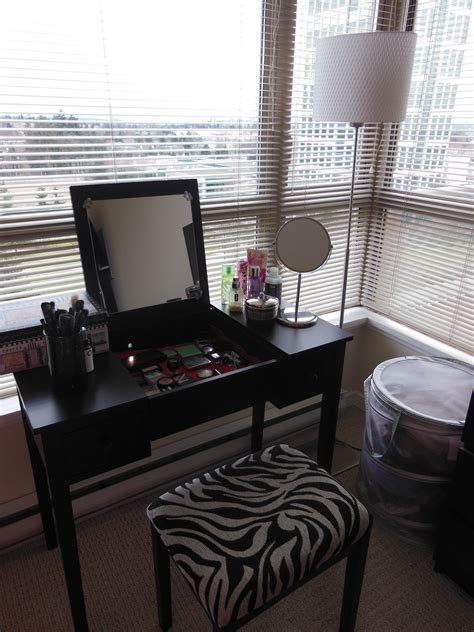 black makeup vanity small black makeup vanity table storage set with lighting