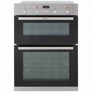 The neff built in electric double oven u12s53n3gb for Neff ofen