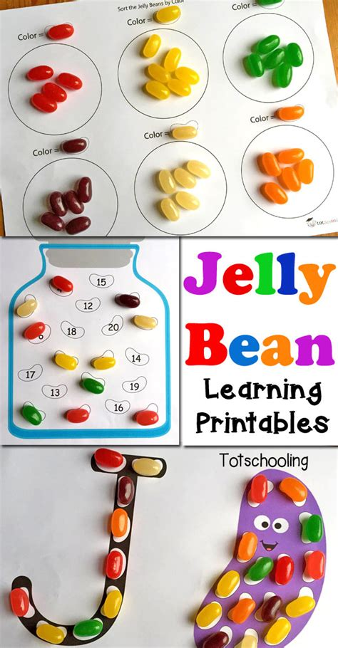 jelly bean learning printables for totschooling 873 | Jelly Bean Learning Printables