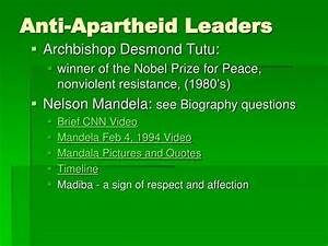 PPT - Modern History of South Africa Main Idea Statements ...