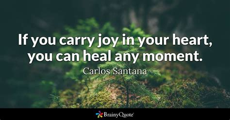 If you carry joy in your heart, you can heal any moment