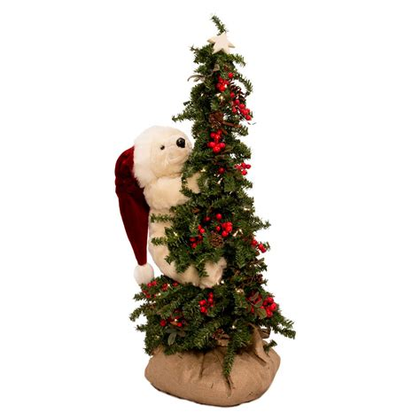 ditz designs bear christmas trees lighted climbing