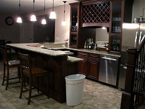 High end kitchen bar remodel ? Amish Custom Furniture