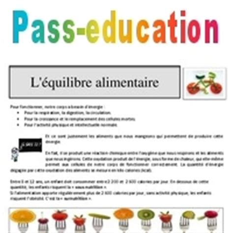 equilibre alimentaire  nutrition cm cm lecture