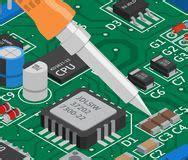 Soldering Electronics Vector Illustration Stock