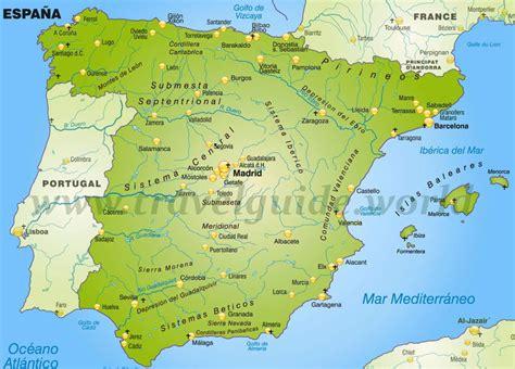 spanien karte fluesse hanzeontwerpfabriek