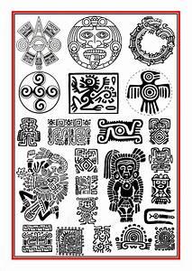 Aztec symbols 1 | Ancient Art | Symboles mayas, Tatouage ...