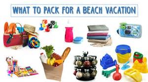 Vacation Beach House Packing List