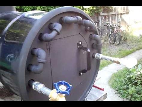 wood fire hot water heater youtube