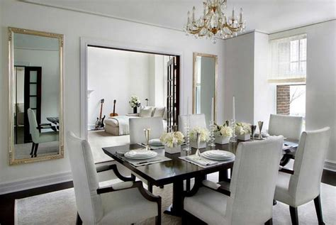 Contemporary Mirrors For Dining Room With Large Mirror